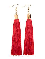 Недорогие -Жен. Серьги-слезки - кисточка, Богемные Пурпурный / Красный / Винный Назначение Для вечеринок / Официальные
