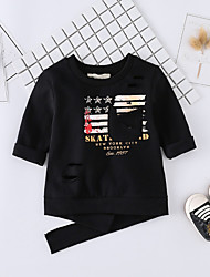 cheap -Baby Unisex Daily Solid Print Blouse, Cotton Spring Summer Cute Active Long Sleeves Green Black