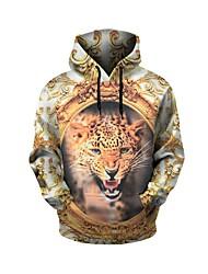 cheap -Men's Long Sleeves Hoodie - Leopard Hooded