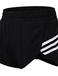 baratos -Mulheres Shorts de Corrida - Vermelho Rosa, Verde, Cinzento Esportes Sólido Shorts Exercício e Atividade Física Roupas Esportivas Respirabilidade Com Stretch