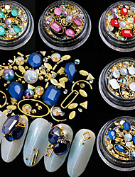 cheap -5 Glamorous Glitter Crystal Metal Beads Rhinestones Nail Jewelry Jewelry Sets Accessory Decorations Jewelry More Accessories