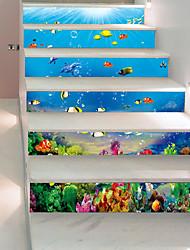 Недорогие -Пейзаж Море Наклейки 3D наклейки Наклейки для животных Декоративные наклейки на стены, Винил Бумага Украшение дома Наклейка на стену Стена