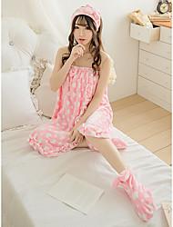 Недорогие -Свежий стиль Банный халат, Однотонный Высшее качество Фланель Флис Полиэфирная смесь 3pcs