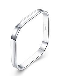 Недорогие -Муж. Геометрический принт Браслет цельное кольцо - Мода Браслеты Серебряный Назначение Подарок Повседневные