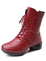economico -Per donna Stivaletti da danza Pelle di altri animali Sneaker A fantasia Piatto Personalizzabile Scarpe da ballo Rosso