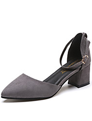 cheap -Women's Shoes PU Summer Slingback Heels Stiletto Heel Pointed Toe Buckle for Dress Beige / Dark Brown