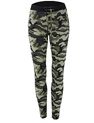 cheap -Women's Military Sweatpants Pants - Camouflage