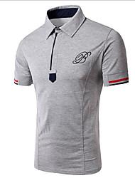 preiswerte -Herrn Solide Sport Polo, Hemdkragen