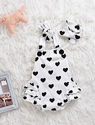 baratos -bebê Para Meninas Estampado Camadas Sem Manga Maiô / Fofo / Bébé