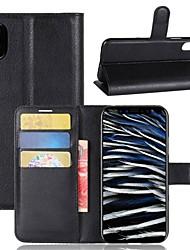 Недорогие -Кейс для Назначение Apple iPhone X / iPhone 8 Plus Кошелек / Бумажник для карт / Флип Чехол Однотонный Твердый Кожа PU для iPhone X / iPhone 8 Pluss / iPhone 8