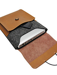 Недорогие -MacBook Кейс для Сплошной цвет Кожа PU MacBook Pro, 13 дюймов