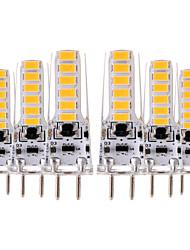billiga -YWXLIGHT® 6pcs 4W 300-400lm GY6.35 LED-lampor med G-sockel T 12 LED-pärlor SMD 5730 Dekorativ Varmvit Kallvit 12V 12-24V