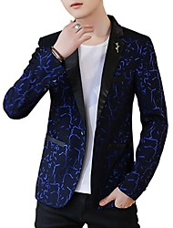 cheap -Men's Active Sophisticated Blazer-Geometric
