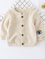 cheap -Baby Unisex Daily Solid Patchwork Suit & Blazer, Cotton Polyester Spring Simple Casual Long Sleeves Beige