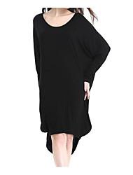 povoljno -Žene Vintage Flare rukav Širok kroj Haljina - Drapirano, Jednobojni Do koljena