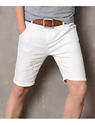 economico -pantaloncini anelastici normali da uomo di media altezza, semplici estivi in cotone solido