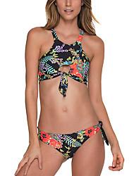 preiswerte -Damen Bikinis - Grundlegend, Blumen Halter