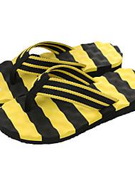 baratos -Homens sapatos Tecido Verão Conforto Chinelos e flip-flops para Casual Ao ar livre Branco/Preto Black / azul Preto/Amarelo