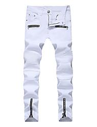 baratos -Homens Simples Chinos Jeans Calças - Sólido