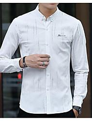 cheap -Men's Business Cotton Shirt - Solid Letter