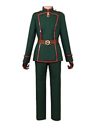 economico -Ispirato da Saga di Tanya the Evil Altro Anime Costumi Cosplay Abiti Cosplay Altro Manica lunga Cappotto Pantaloni Cintura Cappelli Per
