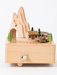 baratos -Personalizado Madeira Caixa de música Noiva Dama de Honor Amigos Bebés e Crianças Roupa Diária