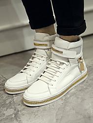 cheap -Men's Cowhide Winter Comfort Sneakers White / Black