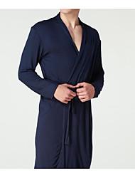 economico -Per uomo Uniformi e abiti tradizionali cinesi Vestaglie Indumenti da notte - Basic, Tinta unita