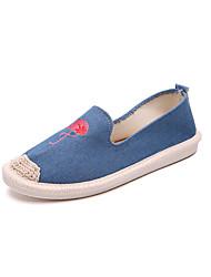 baratos -Mulheres Sapatos Borracha Inverno Conforto Tênis Ponta Redonda para Ao ar livre Preto / Azul / Rosa claro