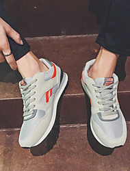 cheap -Men's Fabric Winter Comfort Athletic Shoes Black / Orange / Gray