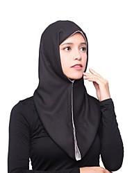 Недорогие -Жен. Очаровательный Хиджаб Шифон, Однотонный