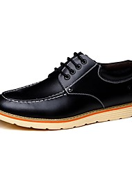 cheap -Men's Shoes Leather Spring Fall Comfort Oxfords for Work & Safety Office & Career Black Orange Brown