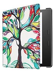 Недорогие -Кейс для Назначение СИН Kindle Oasis 2 (2-е поколение, выпуск 2017 года) Ультратонкий Чехол Геометрический рисунок / Эйфелева башня / Сова Твердый Кожа PU для Kindle Oasis 2(2nd Generation, 2017