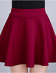 cheap -Women's Going out Cute Mini Pencil Skirts - Solid Colored High Waist
