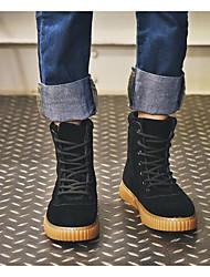 Недорогие -Муж. обувь Полиуретан Зима Осень Армейские ботинки Удобная обувь Ботинки для Повседневные Черный Серый Миндальный