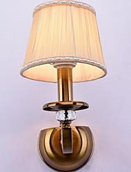 cheap -Crystal / Dimmable Rustic / Lodge Wall Lamps & Sconces / Bathroom Lighting Living Room / Bedroom / Bathroom Metal Wall Light 220-240V 40W