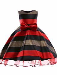 cheap -Girls' Cute Casual Striped Sleeveless Cotton Dress