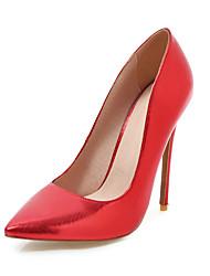 preiswerte -Damen Schuhe PU Frühling Sommer Pumps Hochzeit Schuhe Stöckelabsatz Spitze Zehe für Hochzeit Party & Festivität Gold Silber Rot Rosa