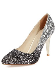 cheap -Women's Shoes Leatherette Spring / Summer Basic Pump Heels Stiletto Heel Pointed Toe Sequin Gray / Light Purple / Burgundy