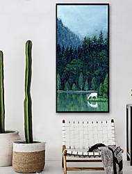 baratos -Paisagem Animais Ilustração Arte de Parede, Plástico Material com frame For Decoração para casa Arte Emoldurada Sala de Estar