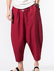 cheap -Men's Cotton Sweatpants Pants - Solid Colored
