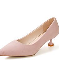 女性用 靴 PUレザー 春 秋 コンフォートシューズ ヒール スティレットヒール のために アウトドア ブラック ベージュ イエロー ピンク