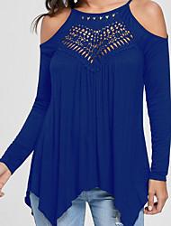 abordables -Tee-shirt Femme, Couleur Pleine - Coton Rétro A Bretelles / Epaules Dénudées Mince