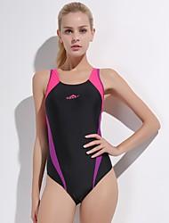 cheap -Women's One Piece Swimsuit Chlorine resistance, Comfortable, Sports Nylon / Spandex Sleeveless Swimwear Beach Wear Bodysuit Patchwork Swimming