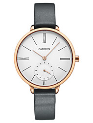 Недорогие -CADISEN Жен. Кварцевый Модные часы Повседневные часы Японский Защита от влаги Повседневные часы Кожа Группа Elegant Мода Серый