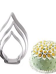 abordables -3pcs Pétale Bourgeonnant Pour Gâteau Petit gâteau Acier inoxydable A Faire Soi-Même Anniversaire Couteaux à gâteaux Ustensiles de Cuisine