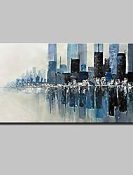 preiswerte -Hang-Ölgemälde Handgemalte - Abstrakt Landschaft Modern Segeltuch