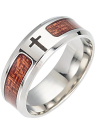 cheap -Men's Band Ring - Cross Fashion 6 / 7 / 8 Brown For Daily