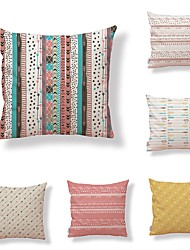 cheap -6 pcs Textile Cotton/Linen Modern/Contemporary Pillow case Pillow Cover, Polka Dot Art Deco Special Design Artistic Style High Quality