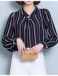 cheap -Women's Business Basic Blouse - Striped V Neck